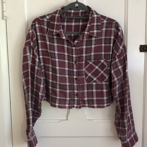 Cropped Brandy Melville Flannel
